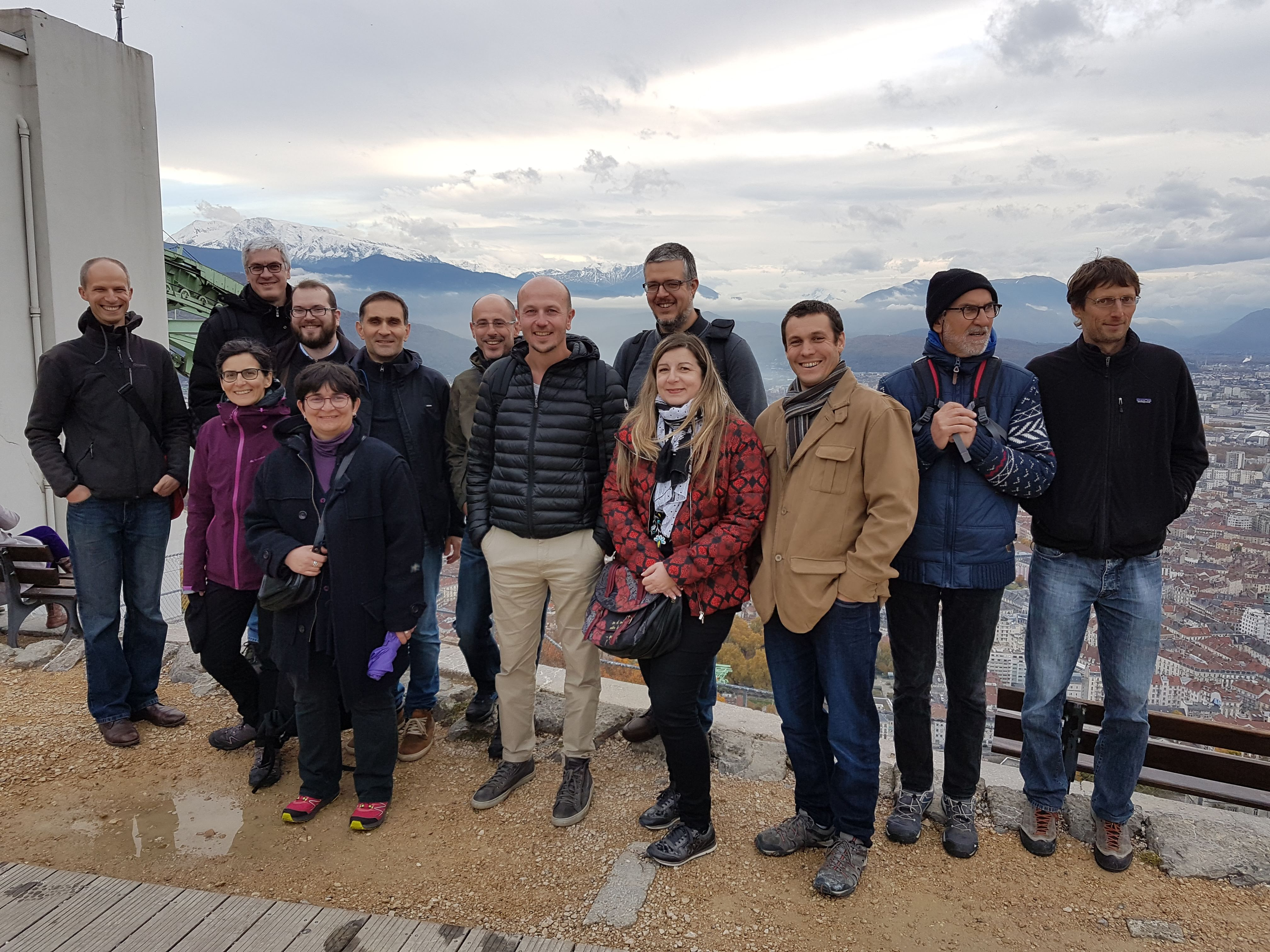 SED Team November 2018 at Bastille Grenoble